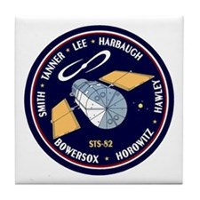 STS-82 Discovery Tile Coaster
