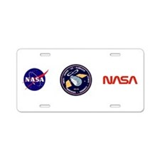 STS-82 Discovery Aluminum License Plate