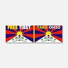 Free Tibet - Take Ohio Car Magnet 10 x 3