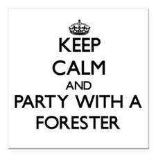 Keep Calm and Party With a Forester Square Car Mag