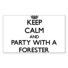 Keep Calm and Party With a Forester Decal