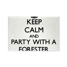 Keep Calm and Party With a Forester Magnets