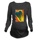 Bright Valentine Long Sleeve Maternity T-Shirt