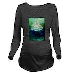 Snowy Mountain Long Sleeve Maternity T-Shirt