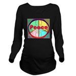 Abstract Peace Sign Long Sleeve Maternity T-Shirt