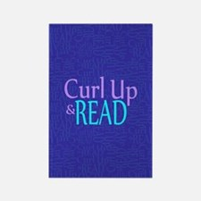 Curl Up and Read Rectangle Magnet