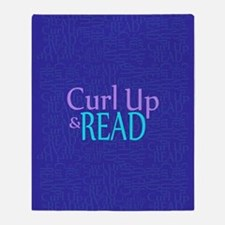 Curl Up and Read Throw Blanket