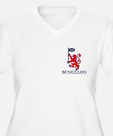 Lion rampant Scotland football Plus Size T-Shirt