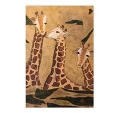 GIRAFFE FAMILY Postcards (Package of 8)