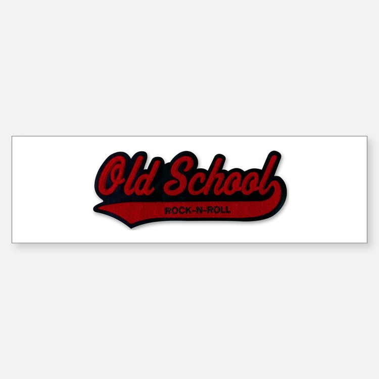 OLD SCHOOL Rock-N-Roll Bumper Car Car Sticker