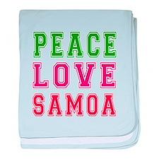 Peace Love Samoa baby blanket