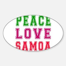 Peace Love Samoa Sticker (Oval)