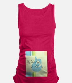 BYSBS belly logo Maternity Tank Top