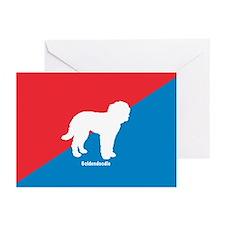 Goldendoodle Diagonal Greeting Cards (Pk of 10