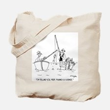 Fishing Is A Science Tote Bag