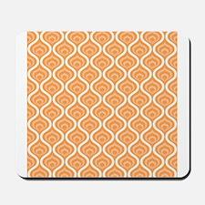 Orange Retro Waves Mousepad