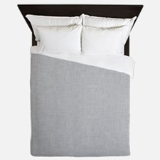 Grey Linen Queen Duvet