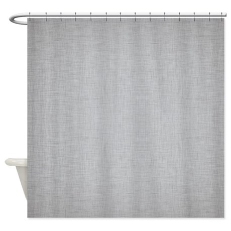 grey linen shower curtain by colorfulpatterns. Black Bedroom Furniture Sets. Home Design Ideas
