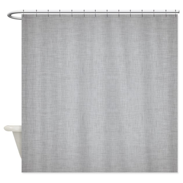 Grey Linen Shower Curtain By ColorfulPatterns