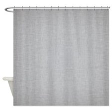 Grey Linen Shower Curtain