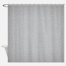 Grey Linen Shower Curtain