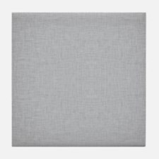 Grey Linen Tile Coaster