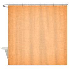 Orange Linen Shower Curtain