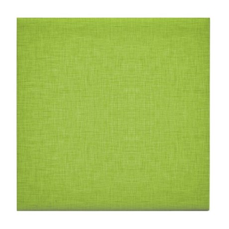 Green Linen Tile Coaster
