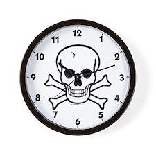 Cracked Skull Icon Wall Clock