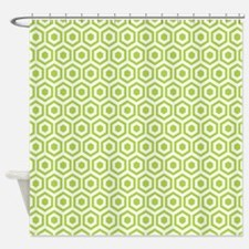 Green Hexagon Honeycomb Shower Curtain