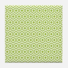 Green Hexagon Honeycomb Tile Coaster