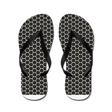 Black Honeycomb Flip Flops
