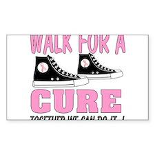 breast cancer walk t shirt Decal
