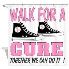 breast cancer walk t shirt Shower Curtain