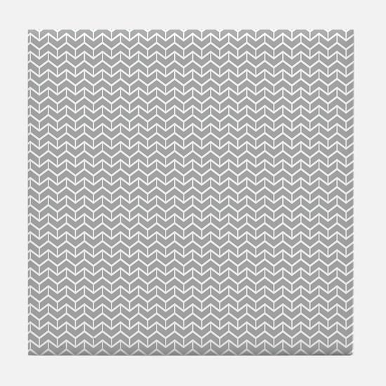 Grey Herringbone Bricks Tile Coaster