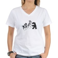 W V-Neck T-Shirt 3 Colors Mini Schnauzer