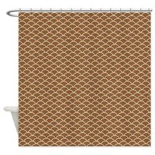 Brown Fish Scales Shower Curtain