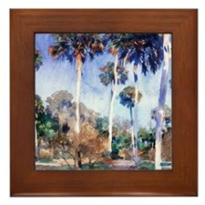 John Singer Sargent painting: Palms Framed Tile