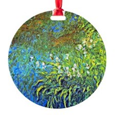 Monet - Iris at the Sea Rose Pond Ornament