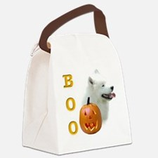 SamoyedBoo2.png Canvas Lunch Bag