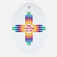 New Mexico one equality Ornament (Oval)