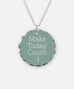 Make Today Count Blue Necklace