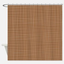 Brown Crosshatch Shower Curtain