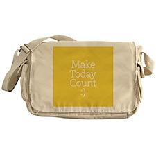 Make Today Count Yellow Messenger Bag
