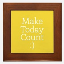 Make Today Count Yellow Framed Tile
