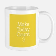 Make Today Count Yellow Mugs