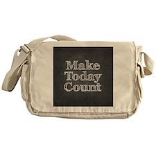 Chalkboard with Mot... Messenger Bag