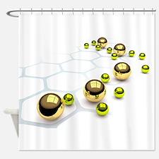 Chrome Balls Shower Curtain