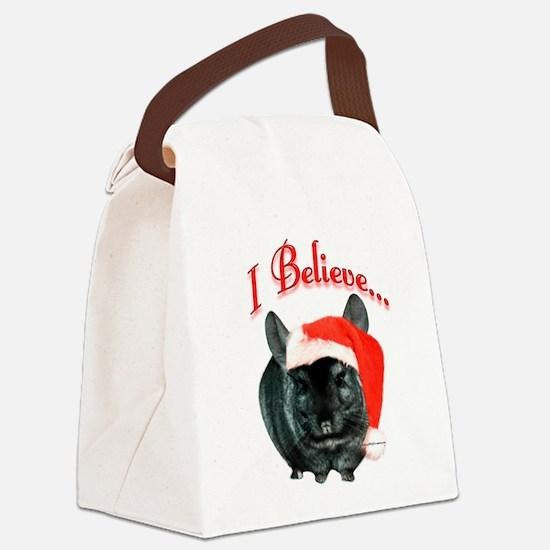 Chin2IBelievedark.png Canvas Lunch Bag