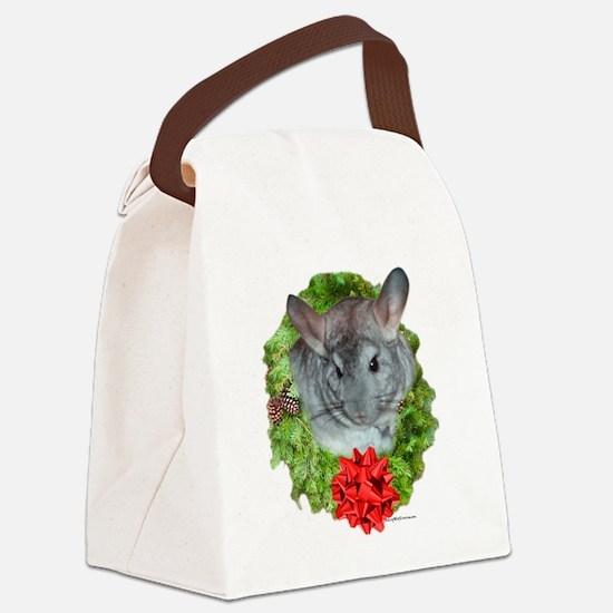 Chinchilla Wreath Canvas Lunch Bag